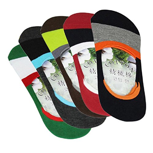 Mens Socks, SHOBDW 5 Pairs Men Boat Invisible No Show Nonslip Liner Low Cut Comfortable Cotton Socks (One size, 5 Pairs)