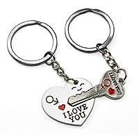 "Accessotech Arrow &""I Love You"" Heart & Key Couple Key Chain Ring Keyring Keyfob Lover Gift"