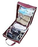 takestop® Reisetasche-Schuhe Tote ca. 6Paar Organizer Zubehör Fächer praktischer Schuhschrank PLATZSPAREND Organizator