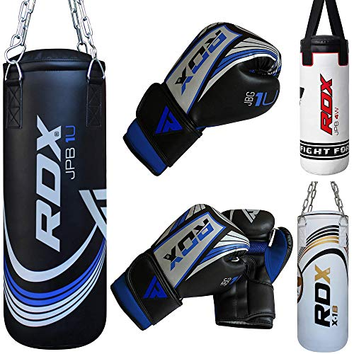 RDX MMA Kinder Boxen Sack 2FT Junior Boxsack Set Kickboxen Sandsack Training Gefüllt Gewicht