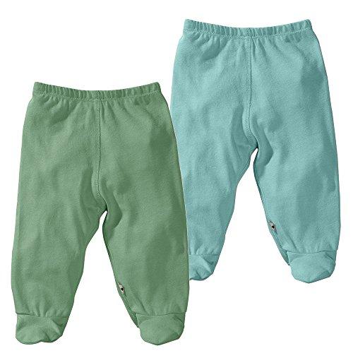 Babysoy moderno Footie Pantalones Pack de 2 Dragon + Harbor Talla:6-12 meses