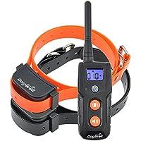 [Nueva versión] Havenfly Wireless recargable e impermeable efectiva, sin dolor y humanamente perro Collar del entrenamiento con tono seguro y fuerte vibración para 2 perros, NO STATIC SHOCK