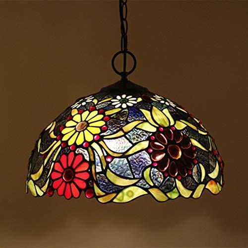 Tiffany Lampe Blumen Set Tischlampe Wandleuchten Pendelleuchte Stehleuchte TLS-007,16InchPendantLightA