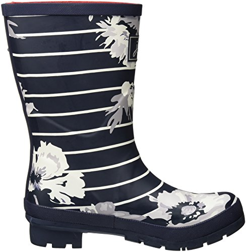 Tom Joule Mollywelly, Stivali di Gomma Donna Blau (French Navy Posy Stripe)