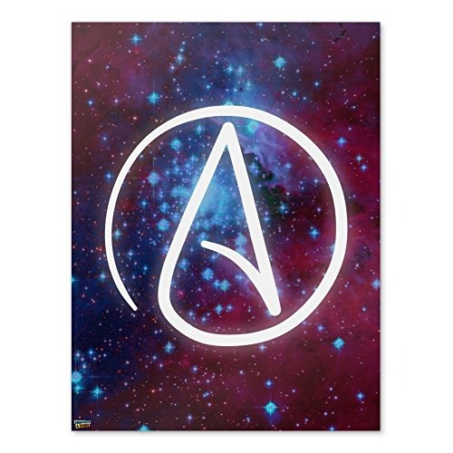 Graphics and More Atheist Atheismus-Symbol in Home-Office-– Poster–18x 18(46cm X 61cm