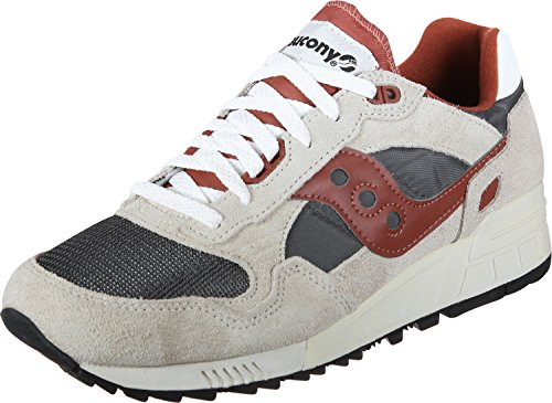 Saucony shadow 5000 vintage, scape per sport outdoor uomo, bianco (off white/grey/red 4), 41 eu