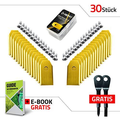 Cuchilla de repuesto para cortacésped, cuchillas de titanio universales con tornillos, para modelos...