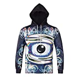 TCLY-FBY 3D digital printing hooded sweater autumn and winter models magic eyes large size hoodies