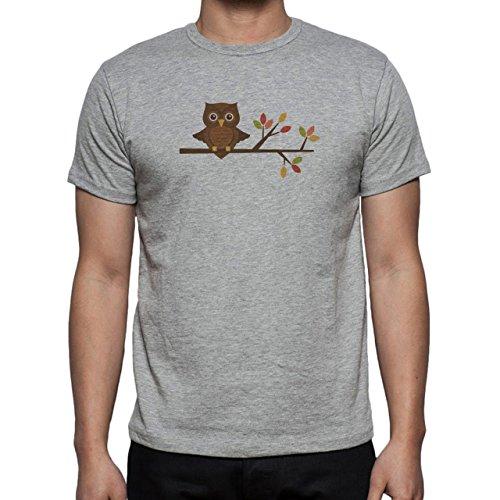 Owl Bird Night Midnighter Tree Herren T-Shirt Grau