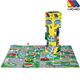 Gepolsteter Verkehrsspielteppich, 15 tlg. 62x62 cm, 2 Autos, 12 Schilder: Spielteppich Autoteppich Verkehrsteppich Spiel Straße Teppich Spielzeug