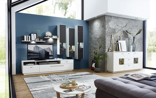 Wohnzimmerschrank, Wohnwand, Schrankwand, Anbauwand, Fernsehwand, Wohnzimmerschrankwand, Wohnschrank - 2
