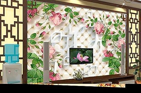 LWCX 3D Personnalisés Les Muraux Peints À La Rosette Européenne Plat Toile De Fond D'Écran 3D Tv Modernes Murales Wallpaper