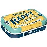 Nostalgic-Art 81330 Nostalgic Pharmacy - Happy Pills | Pillen-Dose | Bonbon-Box | Metall | mit Pfefferminz-Dragees