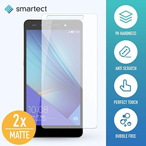 [2x MAT] Protection d'Écran en Verre Trempé pour Huawei Honor 7 / Honor 7 Premium de smartect® | Film Protecteur Ultra-Fin de 0,3mm | Vitre Robuste avec 9H de Dureté et Revêtement Anti-Traces de Doigts