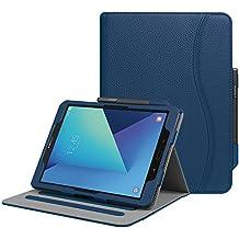 """Fintie Samsung Galaxy Tab S3 9.7 Funda, [Multi-Ángulo de Visualización] Slim Stand Case Plegable Smart Cover con Auto-Sueño / Estela para Samsung Galaxy Tab S3 9.7"""" Tablet, Azul Oscuro"""