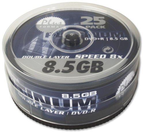 dvd 8gb Platinum 8,5 GB DVD+R Double Layer DVD-Rohlinge (8x Speed) in 25er Spindel