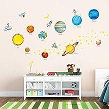 Decowall DW-1307 Planetas en el espacio Pegatinas de pared