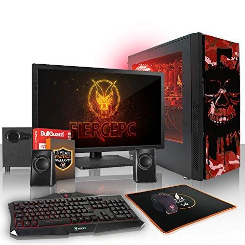 Fierce Phoenix RGB Gaming PC Bundeln - 4.0GHz Quad-Core AMD Ryzen 3 2300X, 1TB SSHD, 16GB, AMD Radeon RX 550 4GB, Tastatur (QWERTY), Maus, 21.5-Zoll-Monitor, Lautsprecher 530297