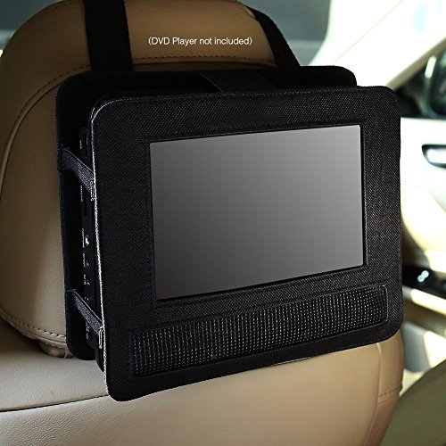 Auto Kopfstützenhalterung DVD Player Tasche, Hülle Tragbarer DVD Player Schutzhülle Haltbarer Nylonschwenksieb-Beutel für Beweglicher DVD-Spieler Case Bag Schwarz (9-9.5 Zoll)