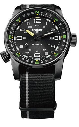 Traser P68Montre Automatique Pathfinder Black avec bracelet NATO