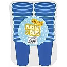 Vasos desechables de plástico, de 170 ml, 60 unidades, disponibles en color rojo, amarillo, azul o rosa