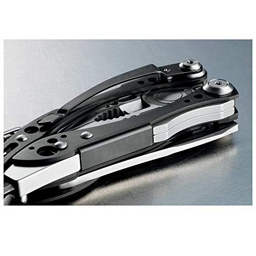 7 Attrezzi in Uno Black richiudibile in Confezione Box Stainless Steel Leatherman LT830958 Multi-Tools Medium SKELETOOL CX Standard Holster Utensile Multifunzione