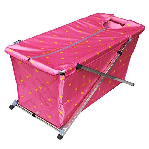 JCOCO Faltbare Badewanne 117 * 61cm Adult Haushalt Verdickung übergroßen Portable Folding Badewanne Isolierung Durable leicht zu reinigen (Farbe : 2) -