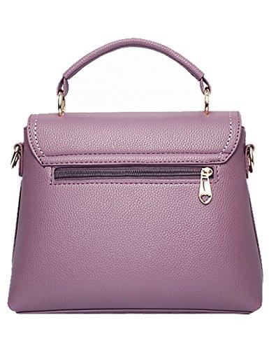 Menschwear Damen PU Handtaschen Damen Handtasche Schwarz Handtasche Schule Damen Handtaschen Rosa Lila