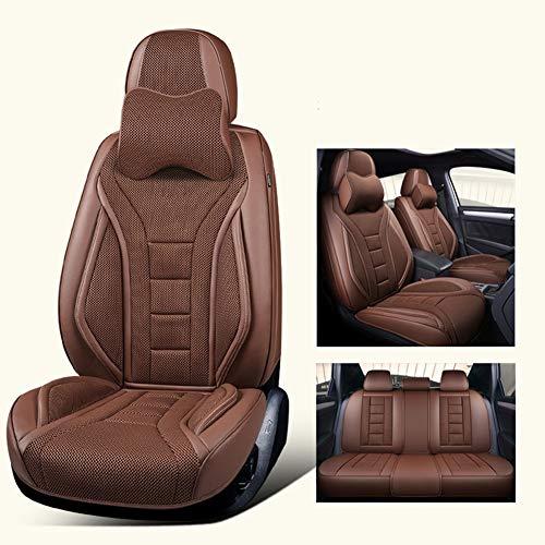 Neue Sommer Autositz All-Inclusive Cool Pad Belüftung Atmungsaktiv Bequeme Sommer Sitzbezug Auto Innennetz Rot,Brown - Einen Auto-sitzbezug Camry Für