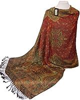 GFM Ladies Floral Mosaic Pattern Pashmina Style Scarf Shawl Wrap