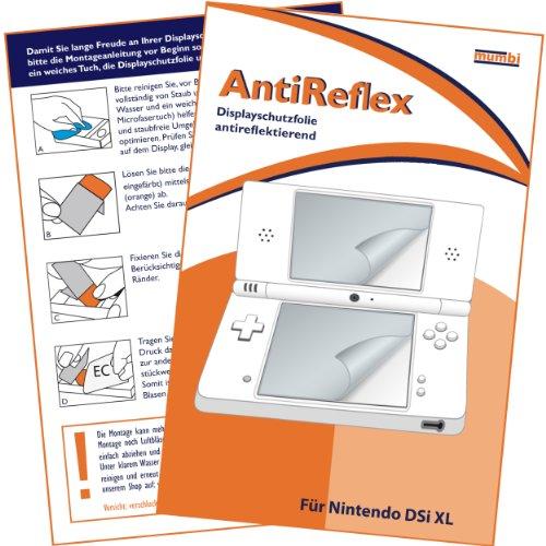 """mumbi Displayschutzfolie Nintendo DSI XL DSiXL NDSiXL Displayschutz """"AntiReflex"""" für Bildschirm UND Touchscreen antireflektierend"""
