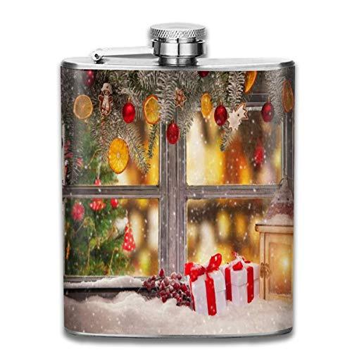 Geschenk-Dekorationsflasche aus Edelstahl, für Herren, auslaufsicher, für den Außenbereich, tragbar, für Alkohol, Whisky, Rum und Wodka