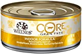 Wellness CORE Natural Grain Free Wet Canned Cat Food - Indoor Health Recipe - 24x5.5oz by Wellness CoreÃ'®