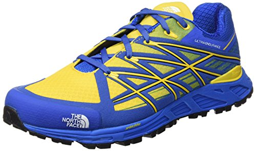 The North Face M Ultra Endurance, Chaussures de Running Homme - Bleu - Bleu (Bleu Quartz/Jaune Freesia), 45 EU