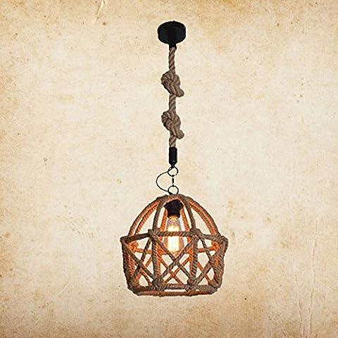 LIVY Lampes en Méditerranée orientale loft fer pur drisse manuel lustre restaurant café bar