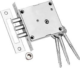 Ramson Linus Steel Finish Bullet Door Inter Lock With 5 Pcs Cross Key Machinism(127)