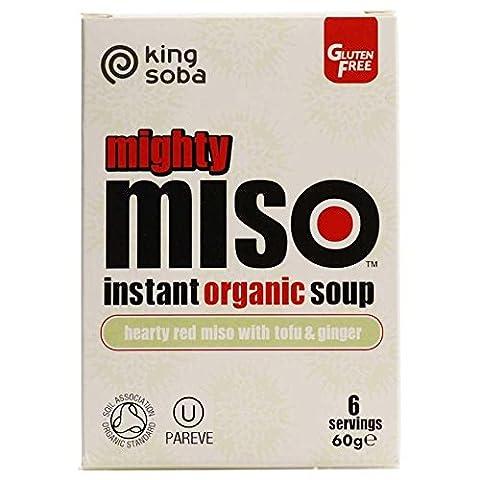 König Soba Miso mit Red Tofu & Ginger Sofort Organische Suppe 60g