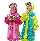 Tokkids - Impermeabile bambino pioggia, Antipioggia per bambini, Raincoat bambino, leggero e resistente (Verde, M- altezza 110-130cm/5-8anni)