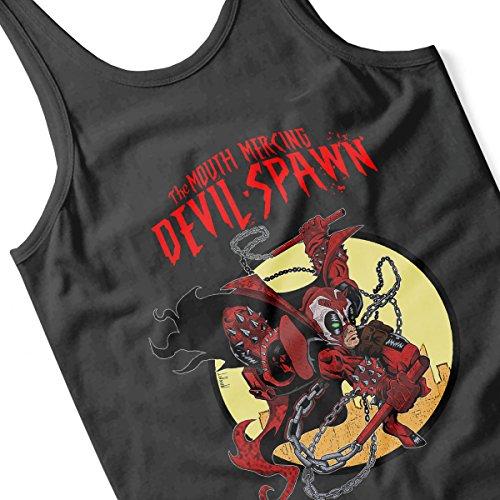 Deadpool Mouth Mercing Devil Spawn Men's Vest Black