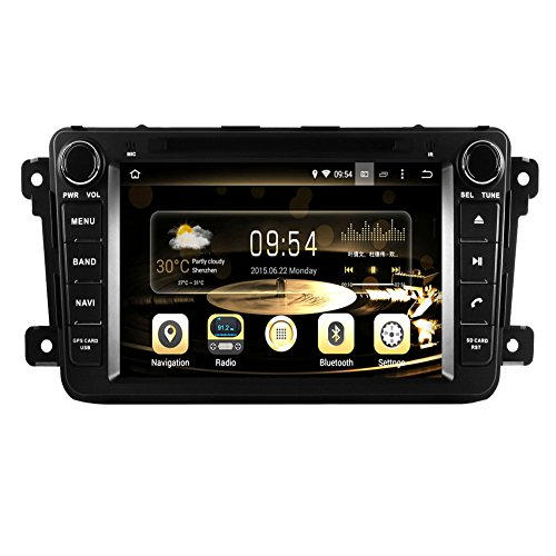 Sound 3 System Mazda (GPS Navigation Android 7.1 Auto Stereo CD DVD Player in Dash Radio mit 20,3 cm LCD Bluetooth Multimedia System für Mazda cx-9 2007 -)