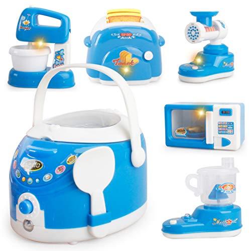 Haunen Haushaltsgeräte Kinder, 6er Set Haushaltsgeräte Spielzeug Appliances Set für Kinder ab 3+