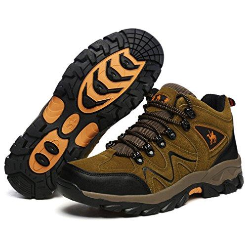 XI-GUA Scarpe da camminata ed escursionismo uomo Marrone