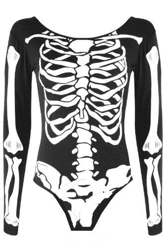 DAMEN LANGARM-BODY/BODYSUIT SKELETT ()
