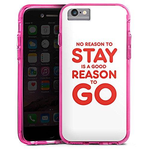 Apple iPhone 8 Bumper Hülle Bumper Case Glitzer Hülle Funny Lustig Statement Bumper Case transparent pink