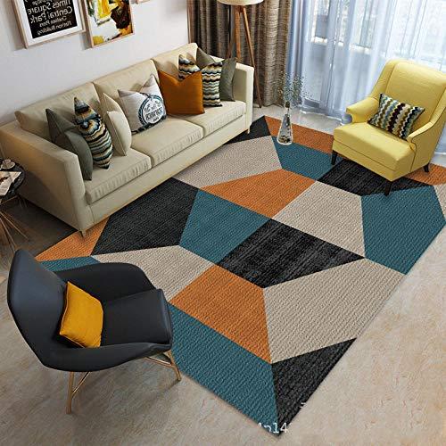 jasmineXDLstore alfombras para salonAlfombra de rayón Vintage Ornamento interpretación de Estilo Moderno...