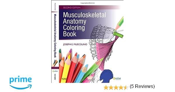 Musculoskeletal Anatomy Coloring Book 2e Amazoncouk Joseph