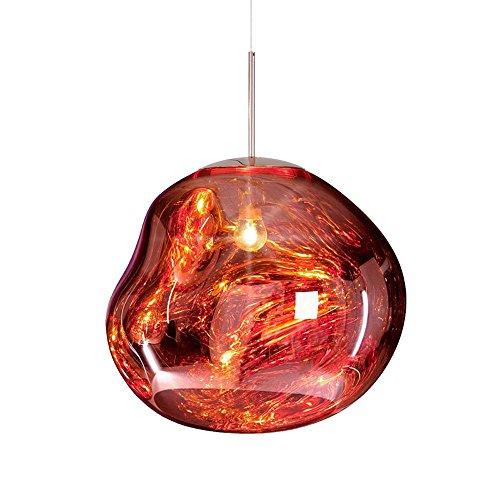 Pointhx Einfachheit Transparent Bunte Glas Deckenpendelleuchte Kronleuchter E27 1-Licht Lava Restaurant Droplight Beleuchtung Hotel Galerie Kaffee Kommerzielle Dekoration Hängelampe - Glas 1 Licht Kronleuchter