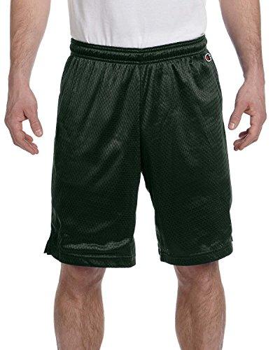 Champion Polyester Mesh Shorts–Athletic dunkelgrün–S 3,7oz Polyester Mesh Gr. Medium, Athletic Dark Green (Champion Shorts Grün Mesh)