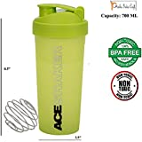 Sports Ace Shaker Bottle Protein Shaker 700 ML Premium Quality With Sleek Convenient Design BPA Chemical Free 100% Safe By Prisha India Craft