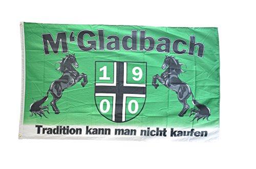 Fahne / Flagge FanFahne / Flagge Mönchengladbach - Tradition kann man nicht kaufen + gratis Sticker, Flaggenfritze®